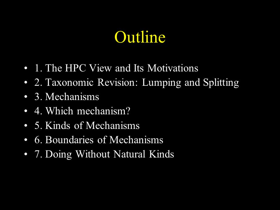 Outline 1. The HPC View and Its Motivations