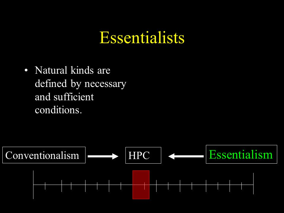 Essentialists Essentialism