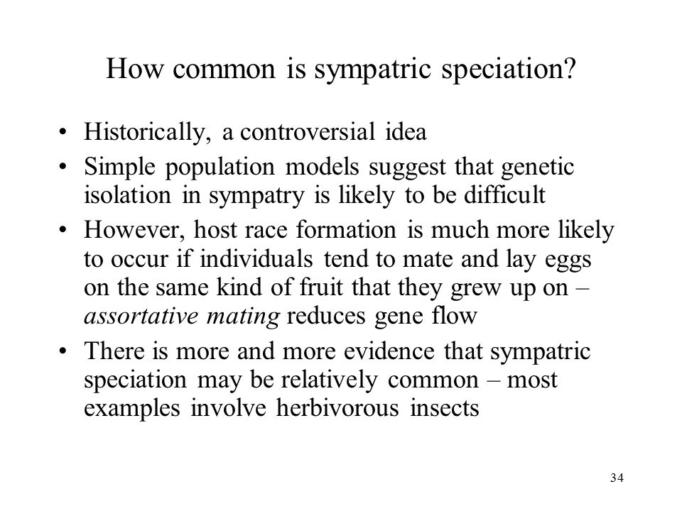 How common is sympatric speciation