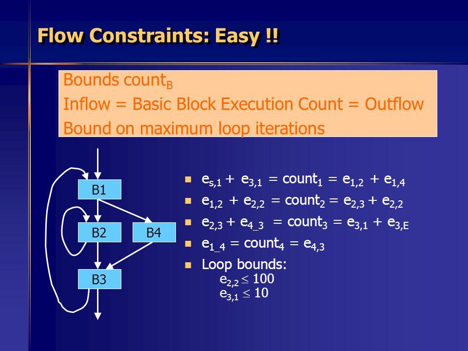 Flow Constraints: Easy !!