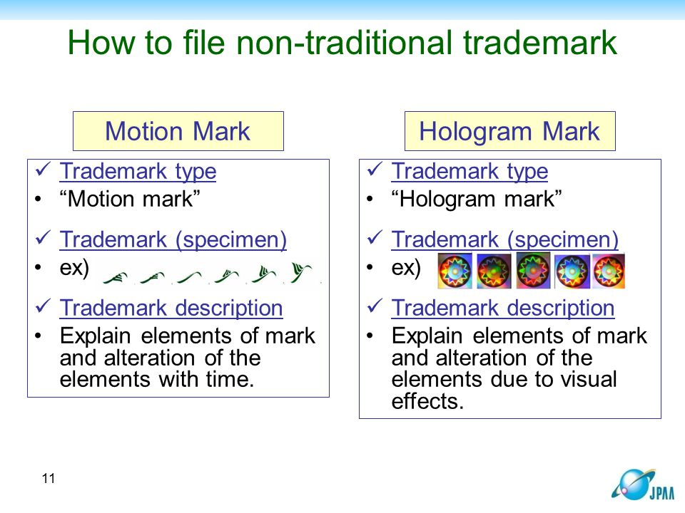 How to file non-traditional trademark