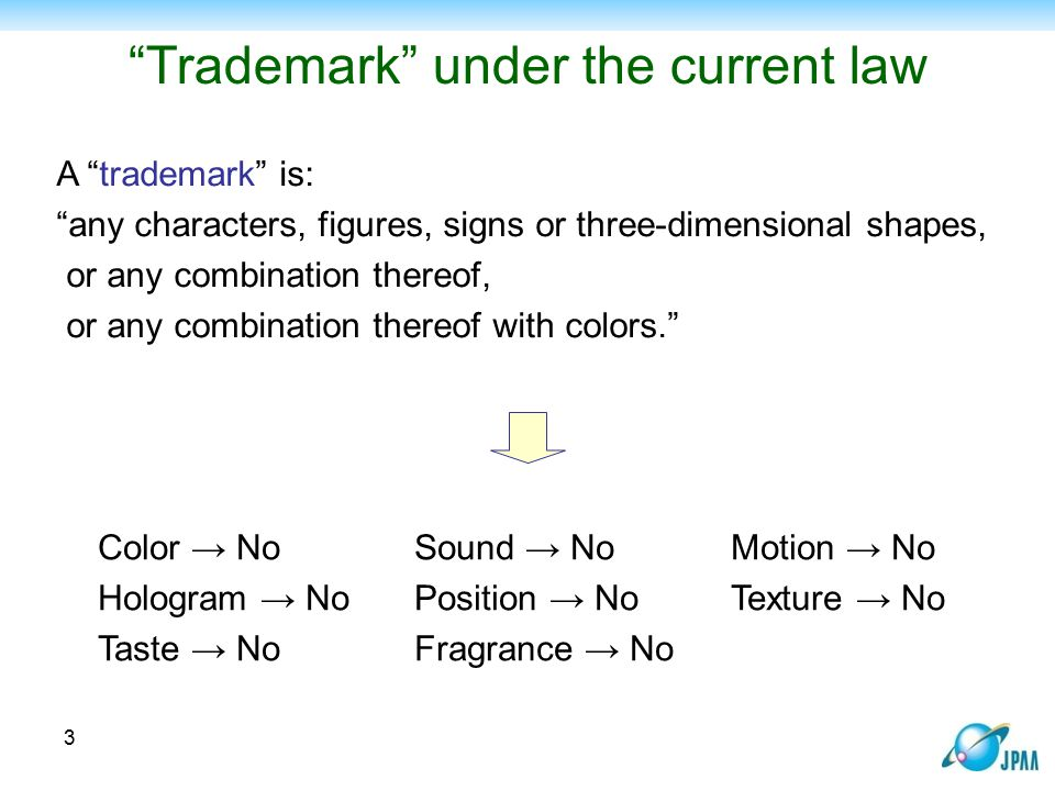 Trademark under the current law