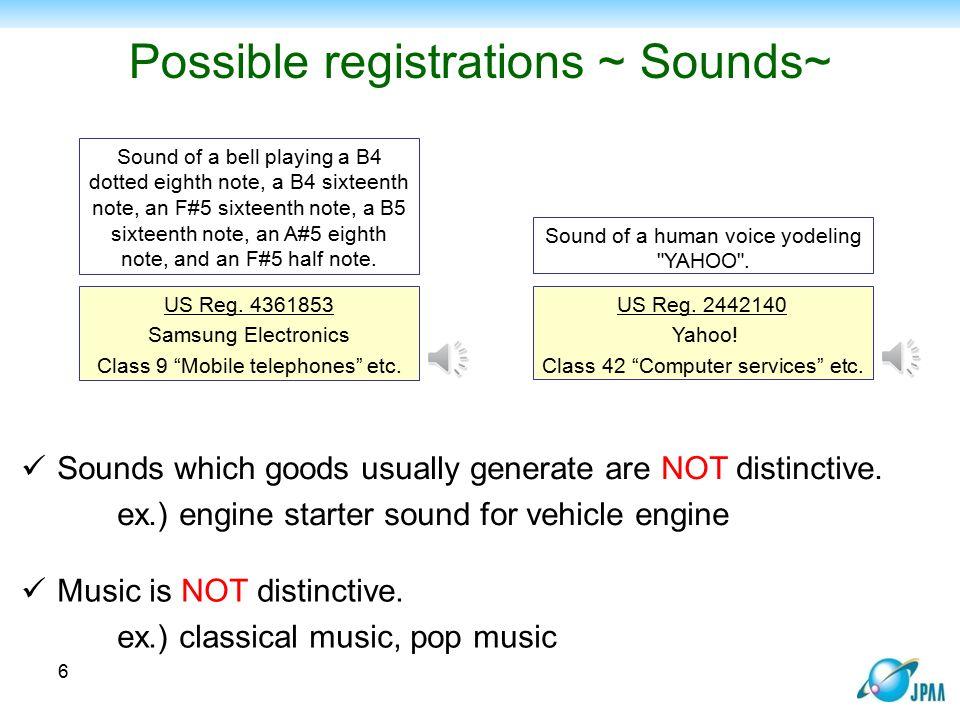 Possible registrations ~ Sounds~