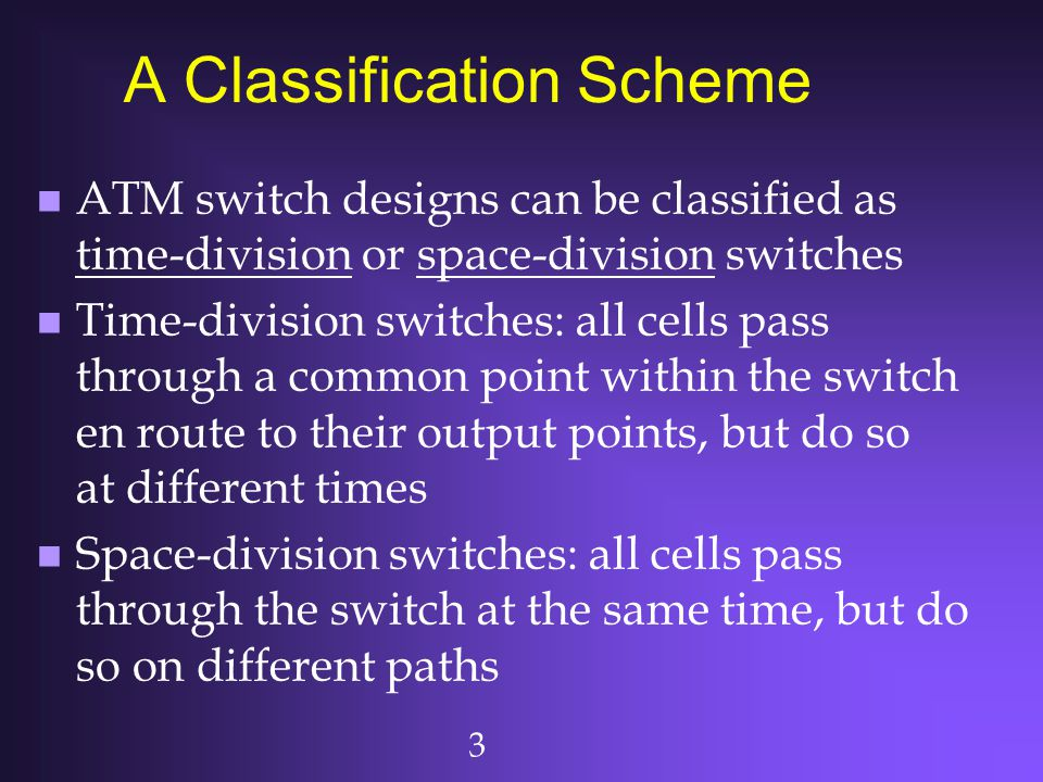 A Classification Scheme