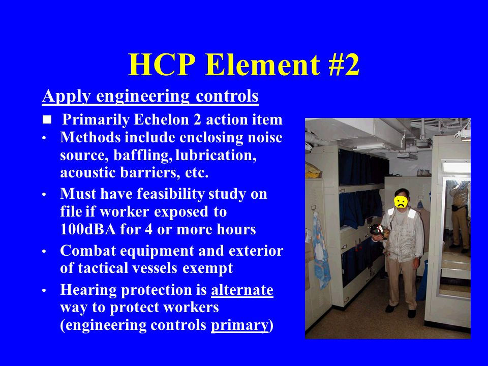 HCP Element #2 Apply engineering controls