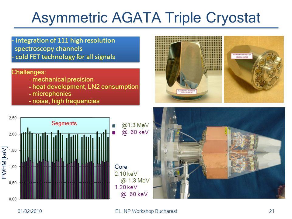 Asymmetric AGATA Triple Cryostat