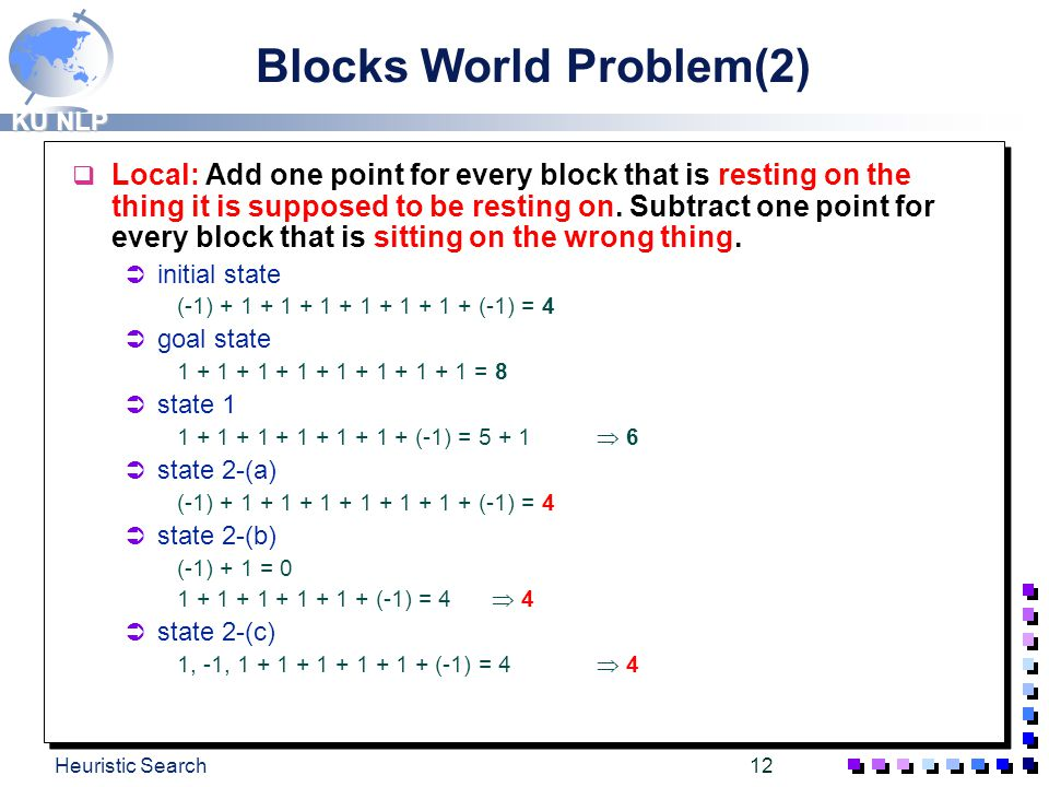 Blocks World Problem(2)