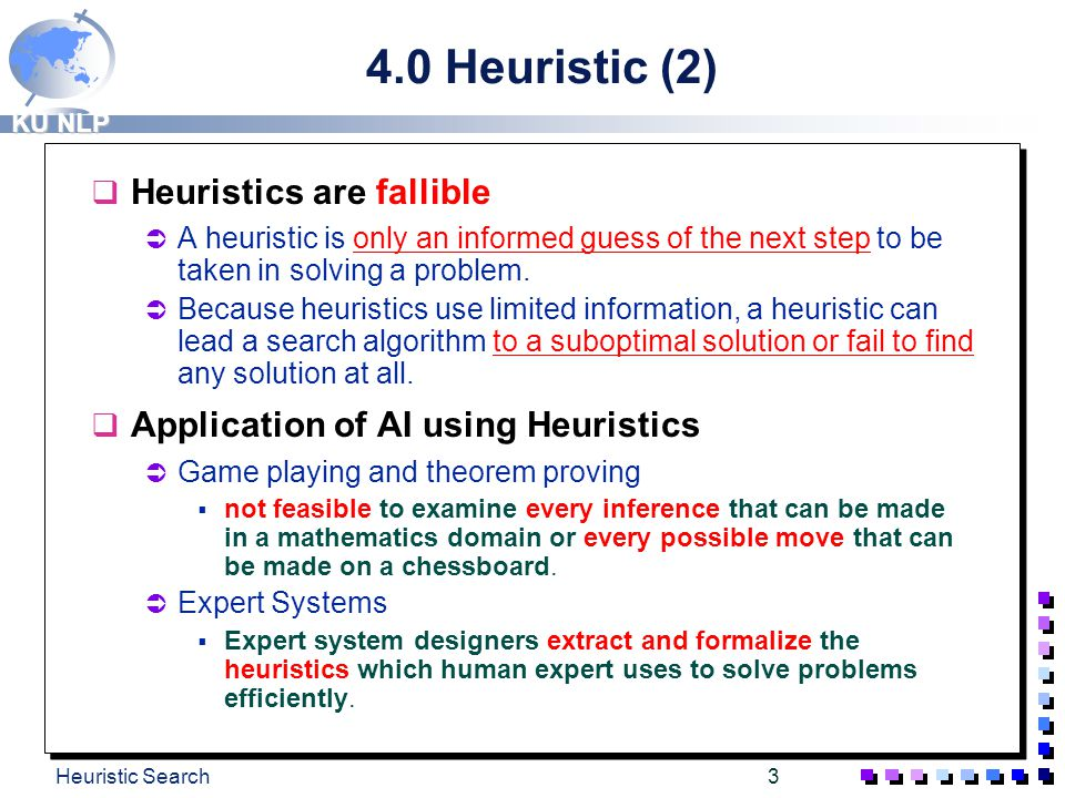 4.0 Heuristic (2) Heuristics are fallible