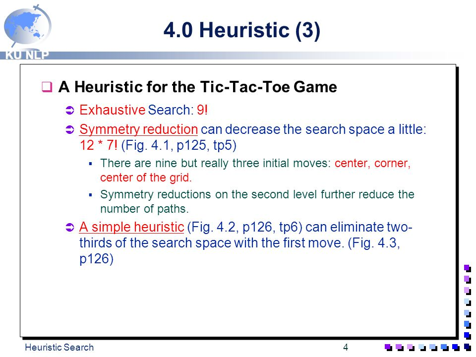 4.0 Heuristic (3) A Heuristic for the Tic-Tac-Toe Game