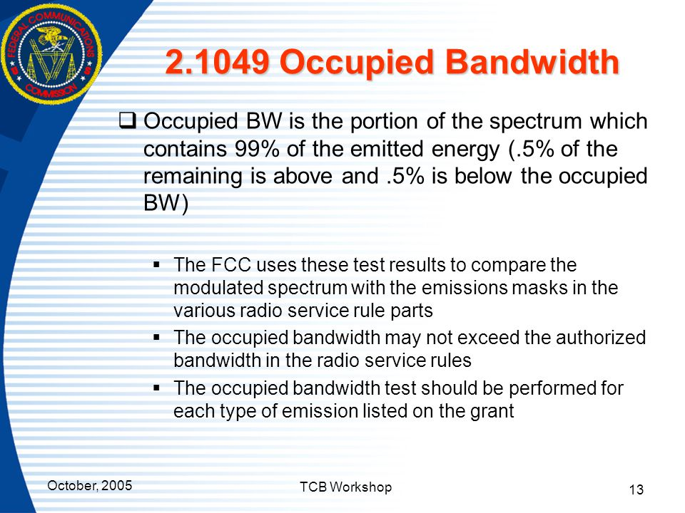 2.1049 Occupied Bandwidth