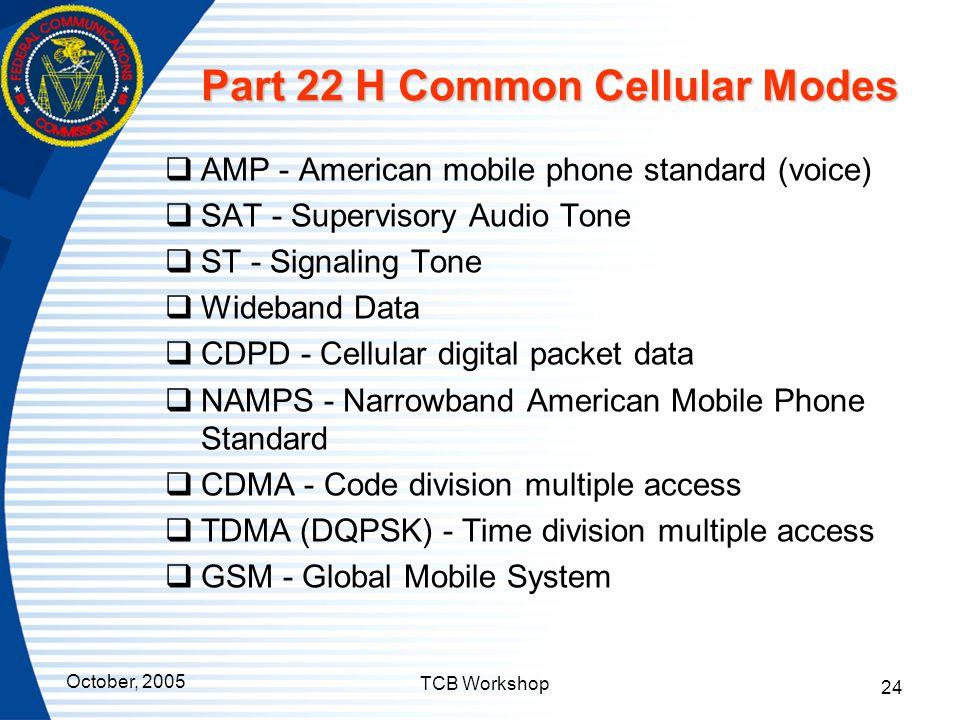 Part 22 H Common Cellular Modes