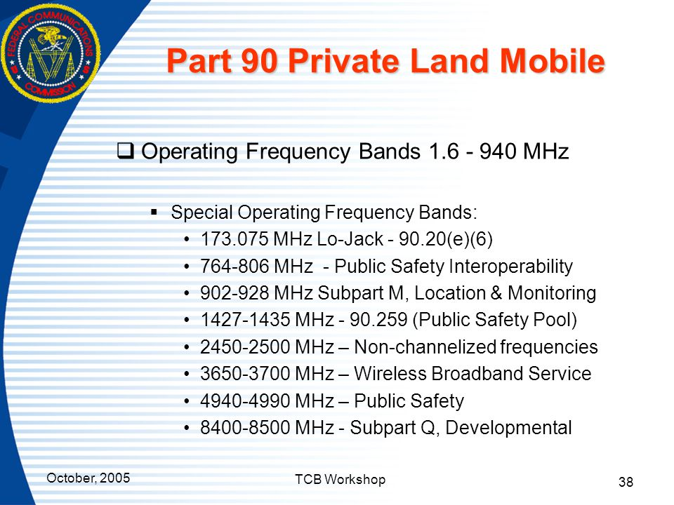 Part 90 Private Land Mobile