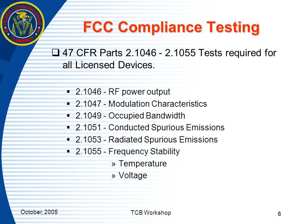 FCC Compliance Testing