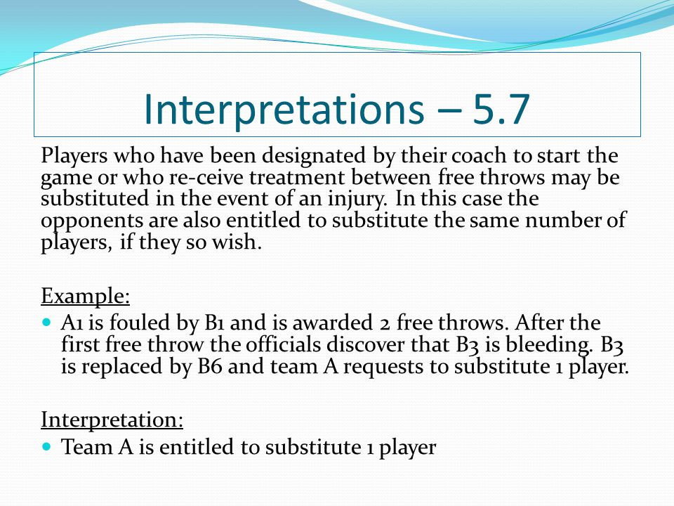 Interpretations – 5.7