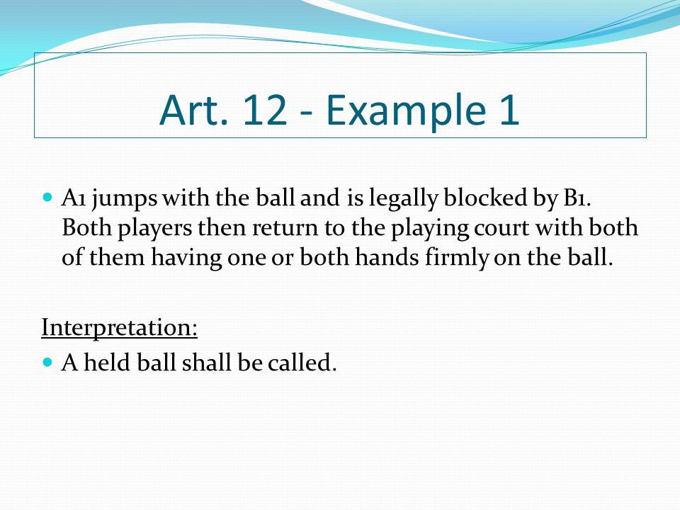 Art. 12 - Example 1
