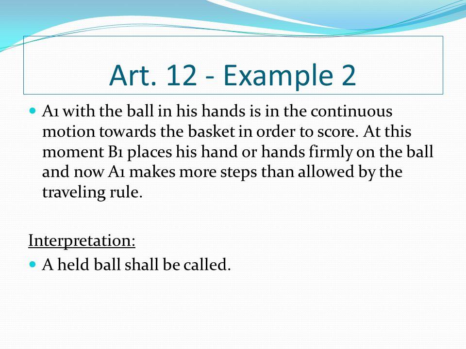 Art. 12 - Example 2