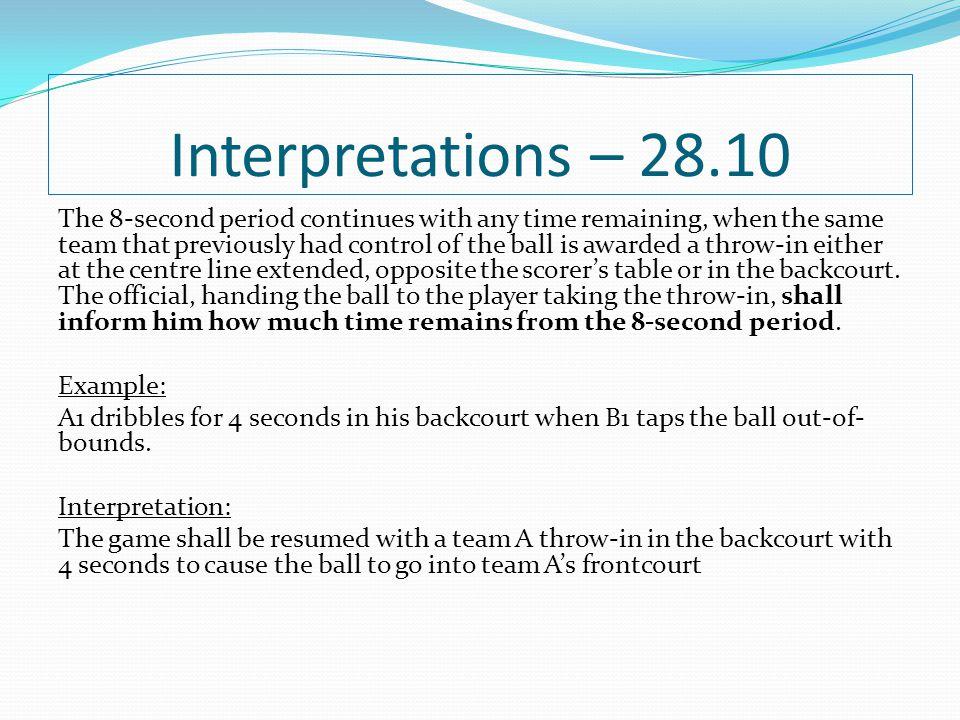 Interpretations – 28.10