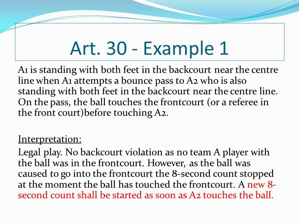 Art. 30 - Example 1