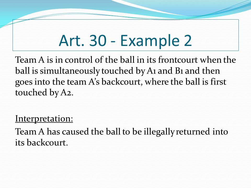 Art. 30 - Example 2