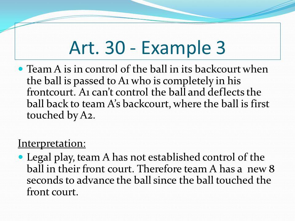 Art. 30 - Example 3