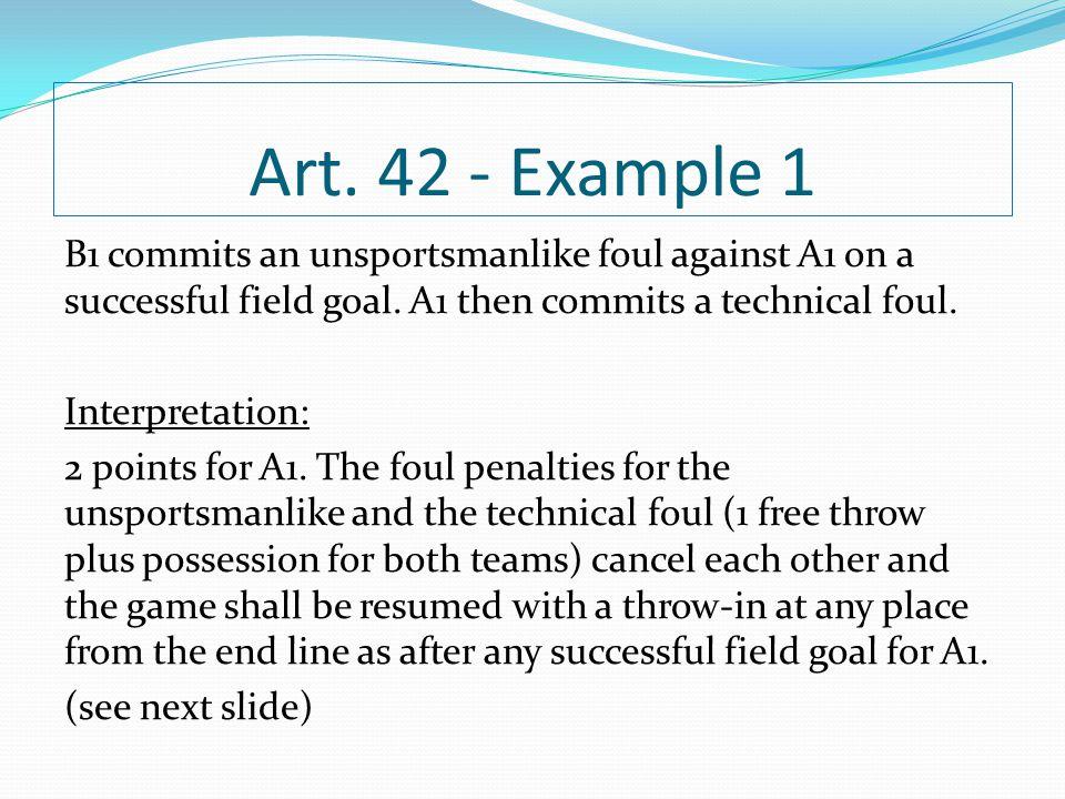 Art. 42 - Example 1