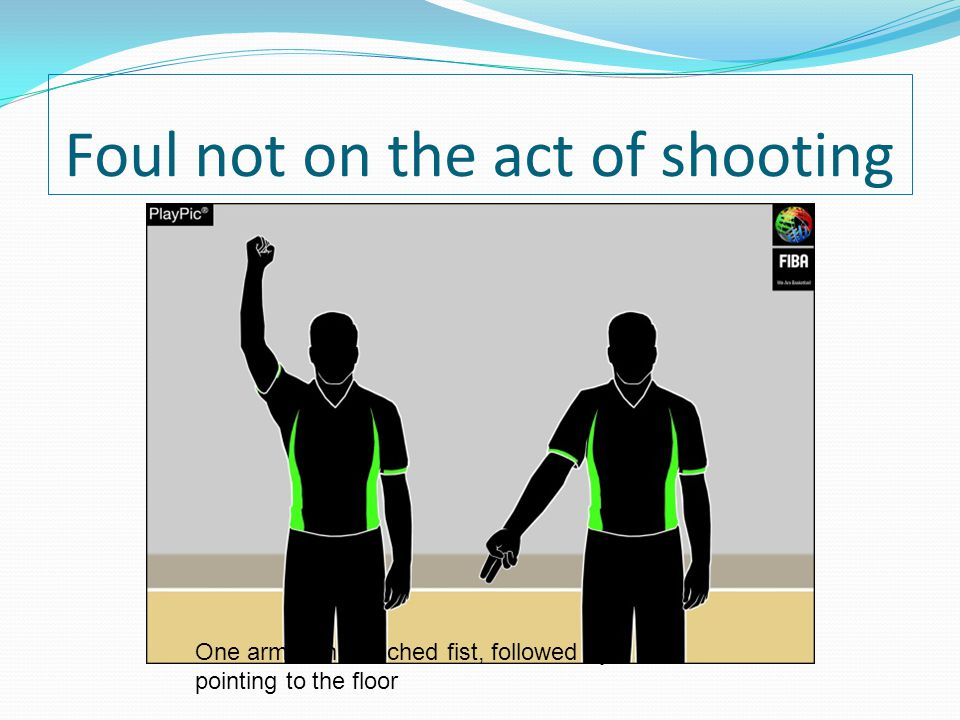 Foul not on the act of shooting