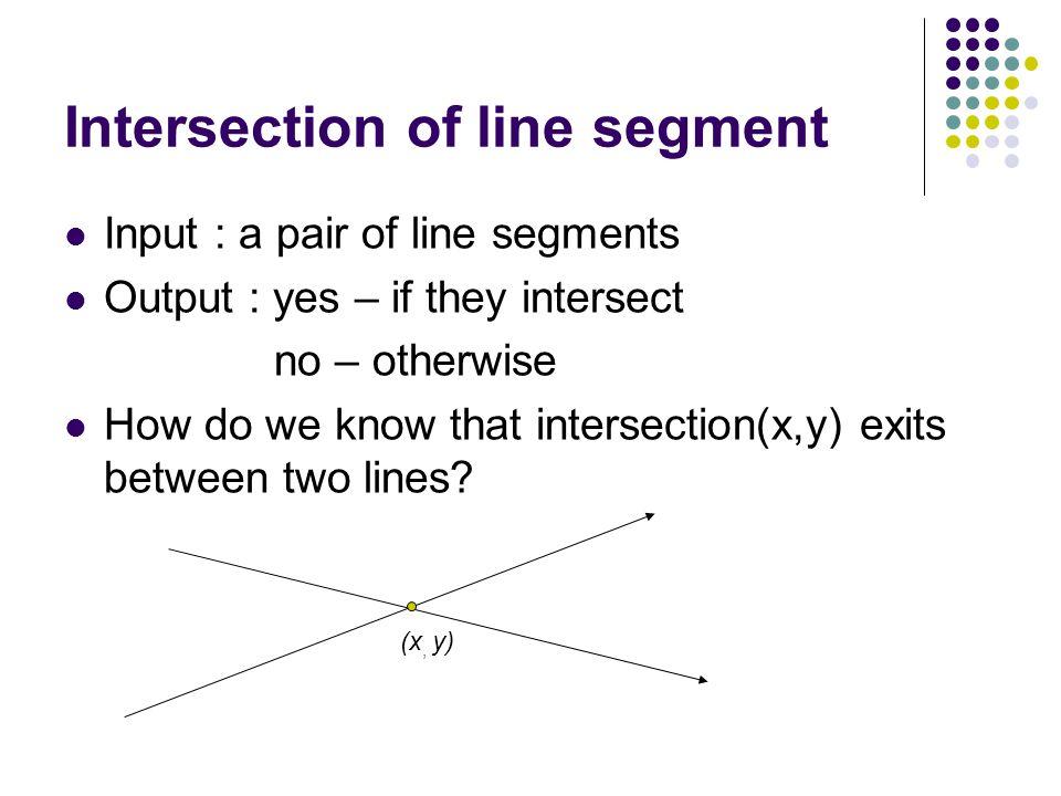 Intersection of line segment