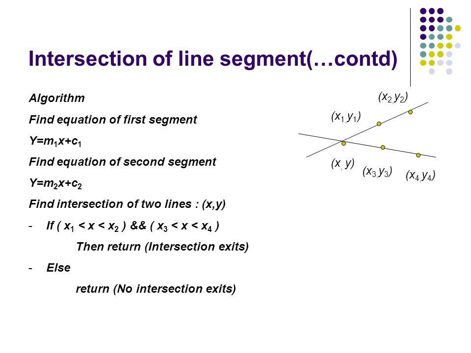 Intersection of line segment(…contd)