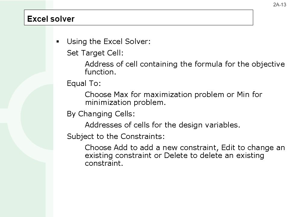 how to solve optimization problems