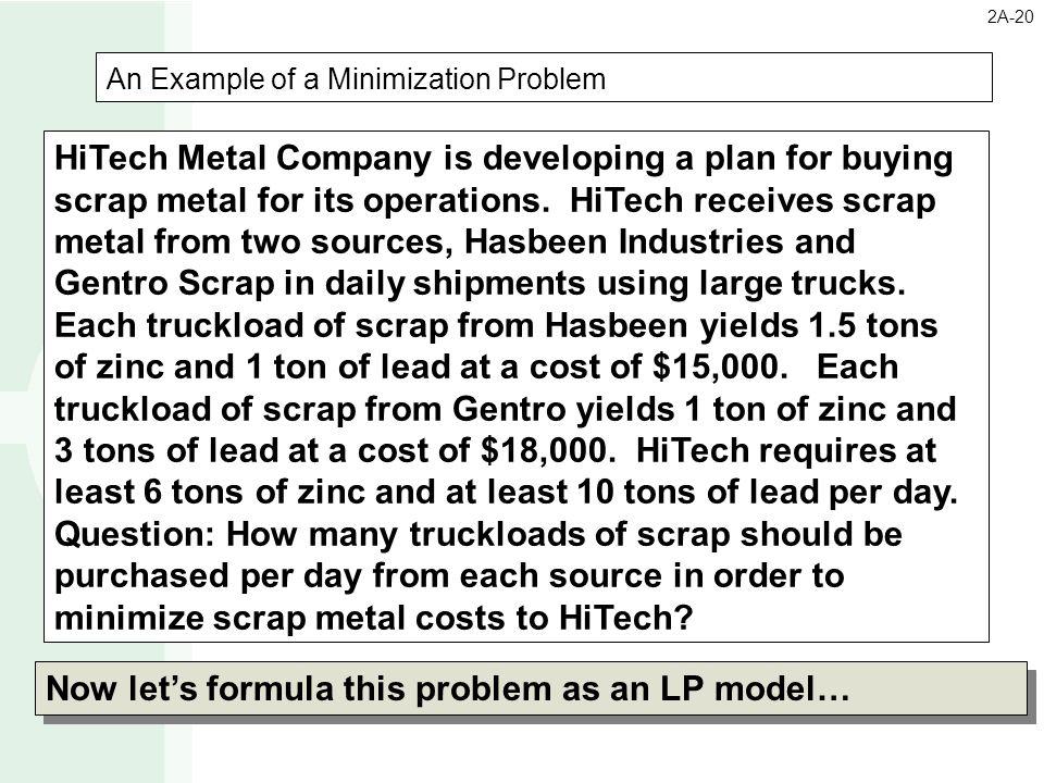 An Example of a Minimization Problem