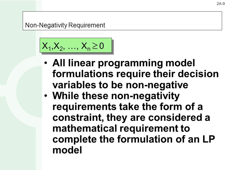Non-Negativity Requirement