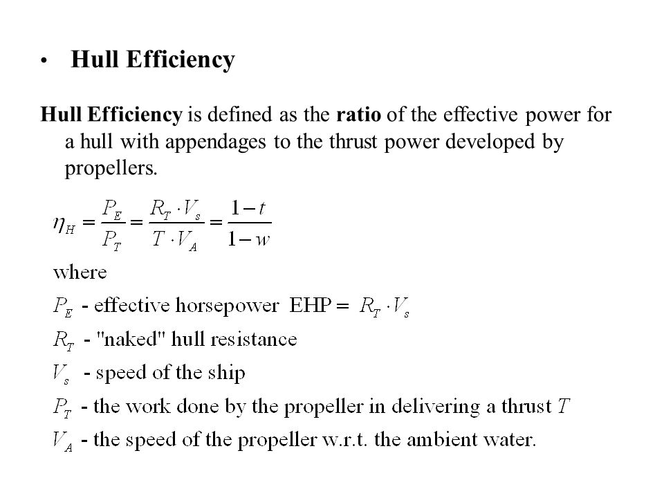 Hull Efficiency