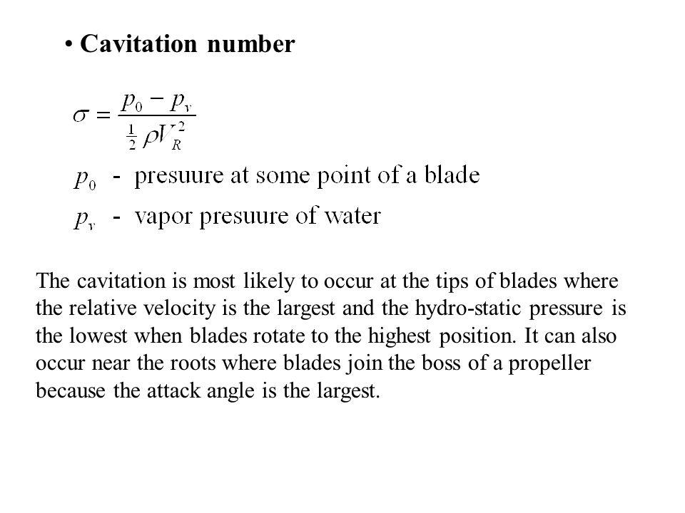 Cavitation number