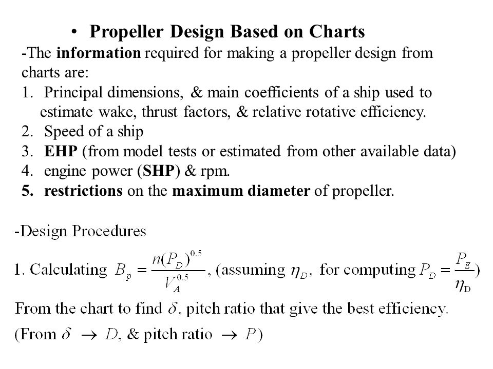 Propeller Design Based on Charts