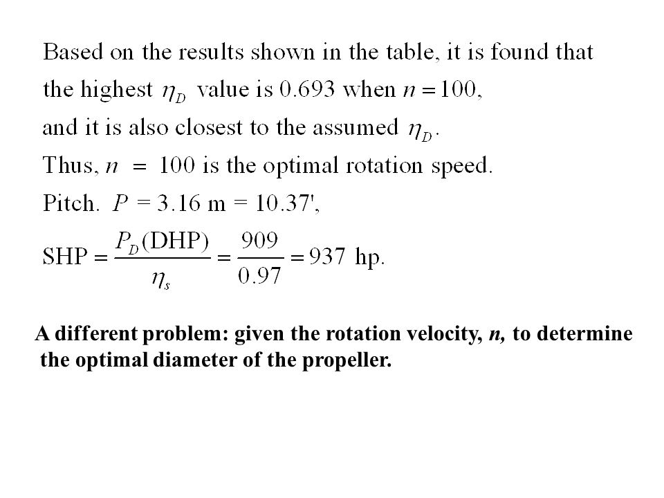 A different problem: given the rotation velocity, n, to determine