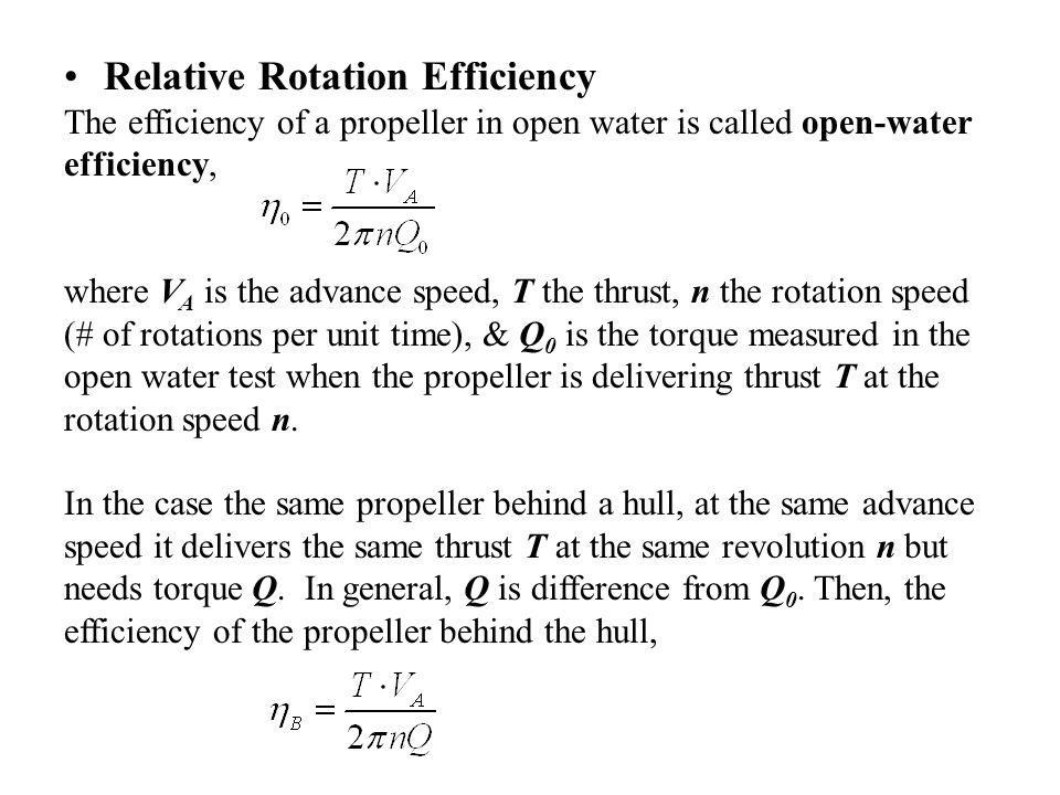 Relative Rotation Efficiency