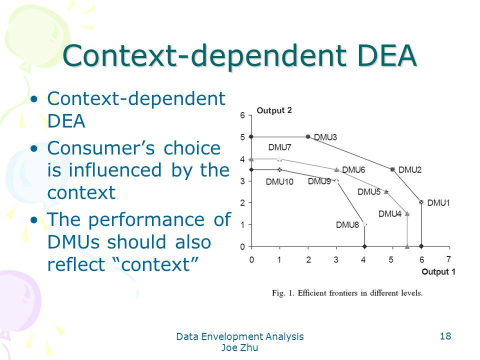 Context-dependent DEA