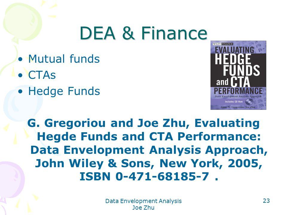 Data Envelopment Analysis Joe Zhu