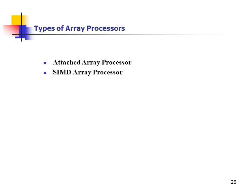 Types of Array Processors