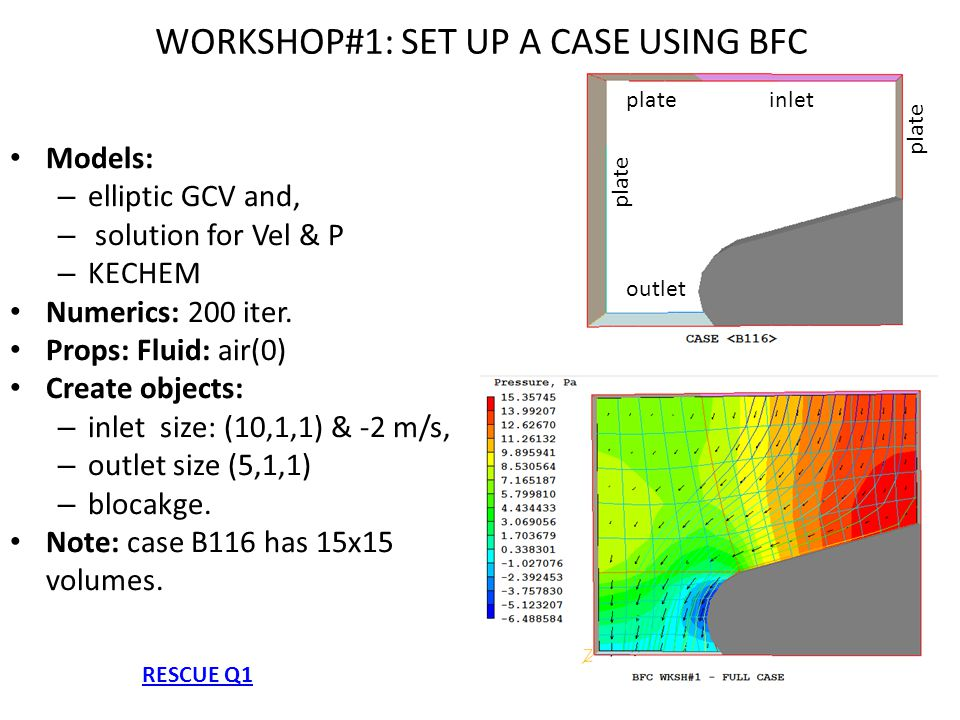 WORKSHOP#1: SET UP A CASE USING BFC