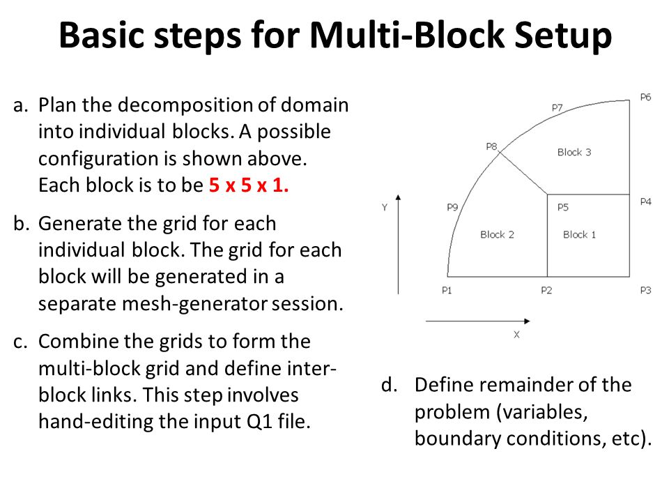 Basic steps for Multi-Block Setup