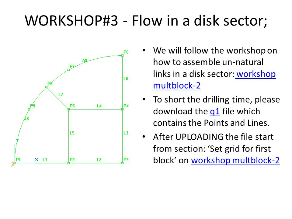 WORKSHOP#3 - Flow in a disk sector;