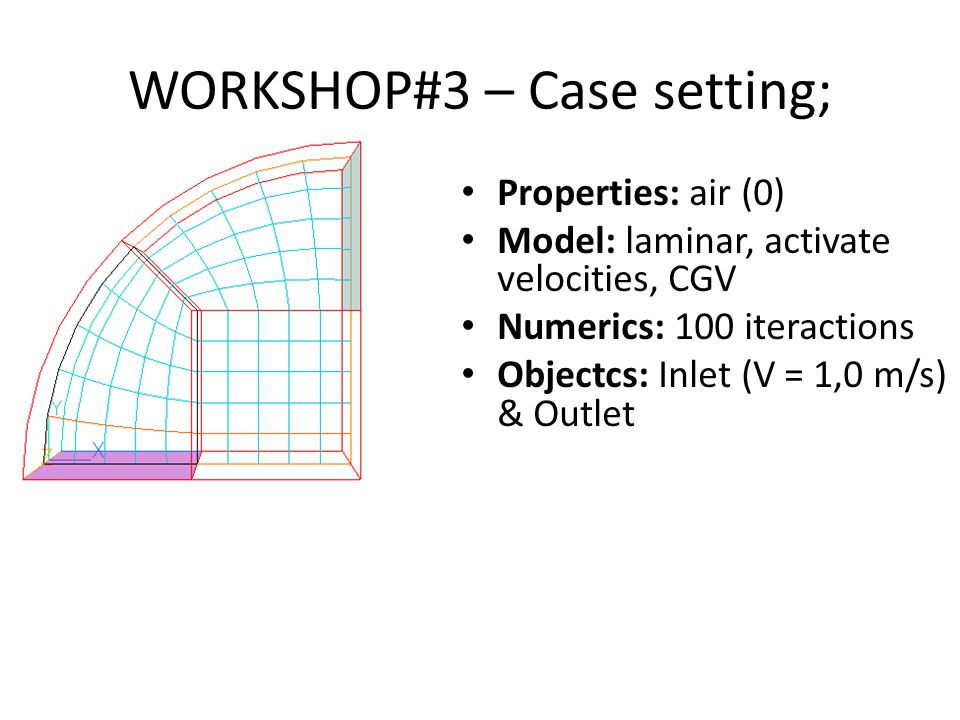 WORKSHOP#3 – Case setting;