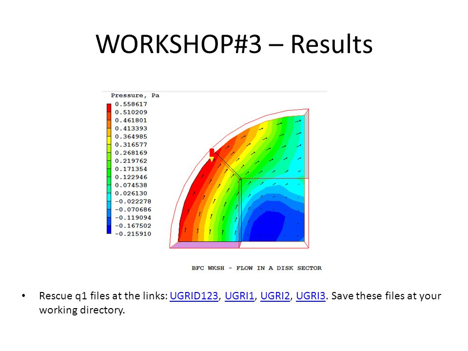 WORKSHOP#3 – Results Rescue q1 files at the links: UGRID123, UGRI1, UGRI2, UGRI3.