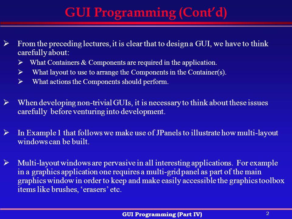 GUI Programming (Cont'd)