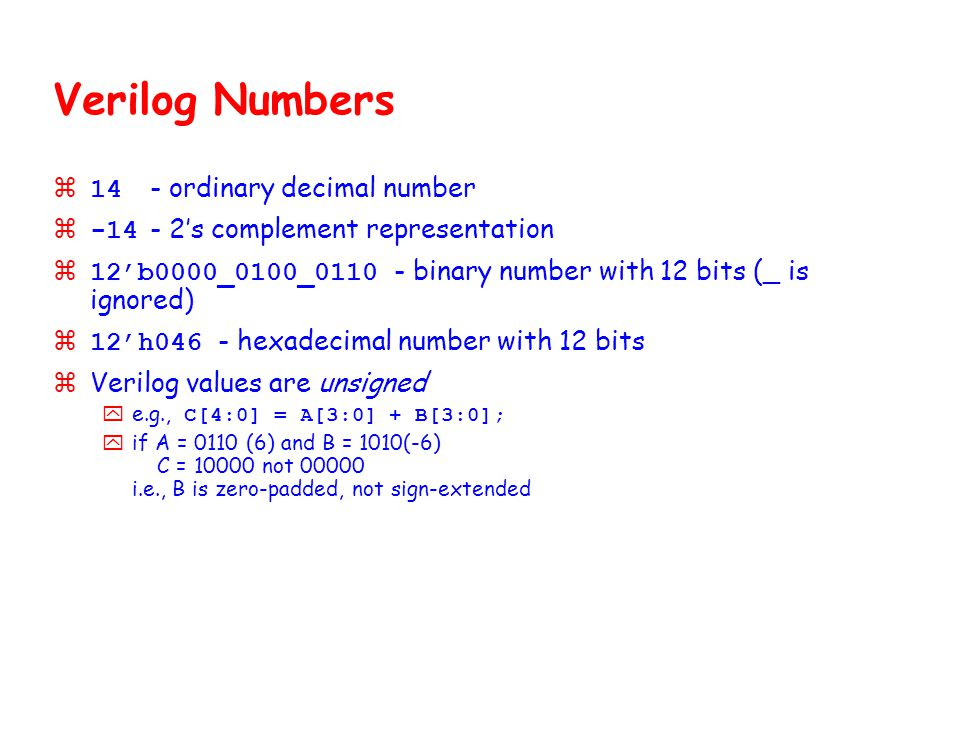 Verilog Numbers 14 - ordinary decimal number