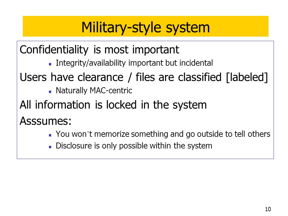 Military-style system