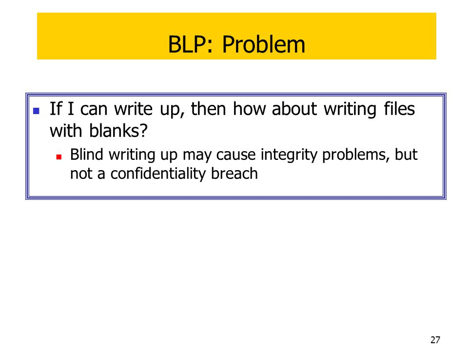 BLP: Problem If I can write up, then how about writing files with blanks