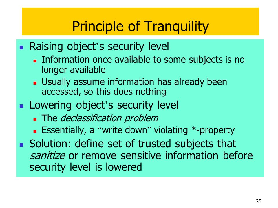 Principle of Tranquility