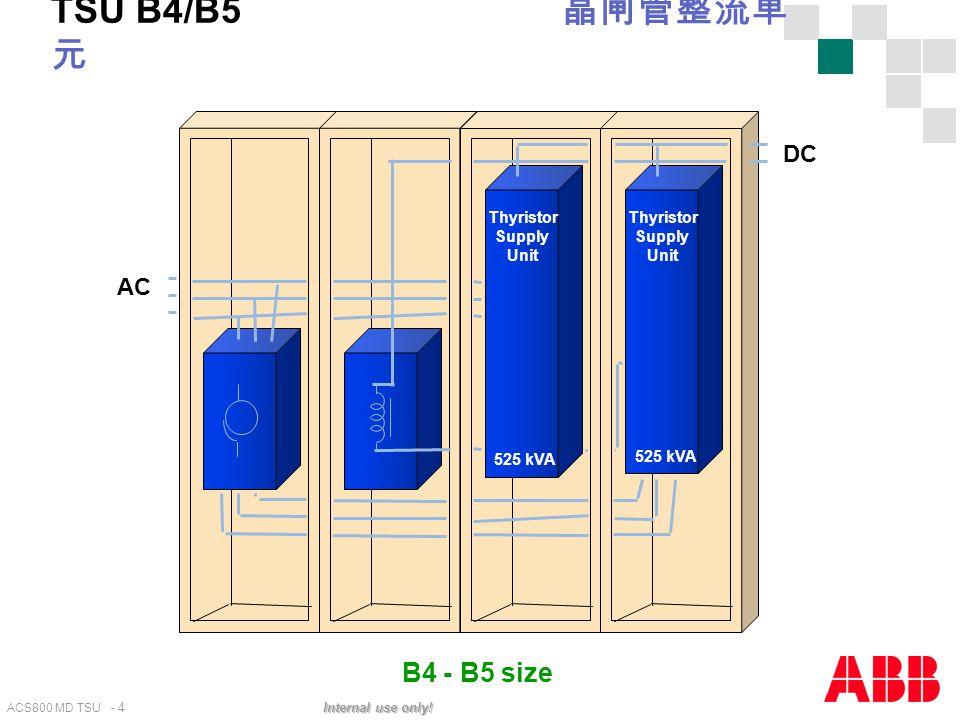 TSU B4/B5 晶闸管整流单元 AC Thyristor Supply Unit 525 kVA DC B4 - B5 size